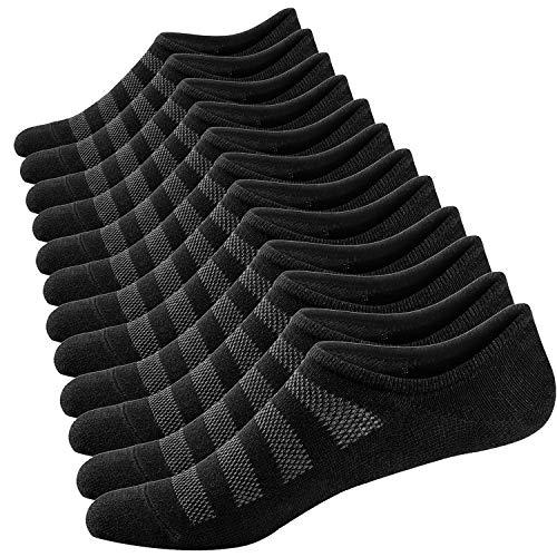 Ueither Calzini Fantasmini da Uomo, Sneaker Calze Invisibili in Cotone, Calze Corti Traspirante Sportive con taglio basso, Antiscivolo