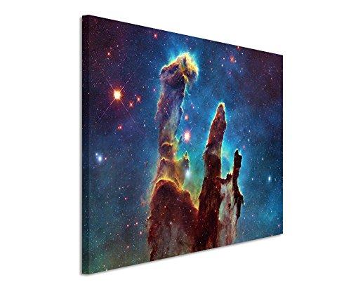 Paul Sinus Art XXL Fotoleinwand 120x80cm Künstlerische Fotografie – Leuchtende Galaxie auf Leinwand Exklusives Wandbild Moderne Fotografie für ihre Wand in vielen Größen
