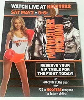 Catch The Fight of The Century at Hooters Mayweather vs. Pacquiao 8.5