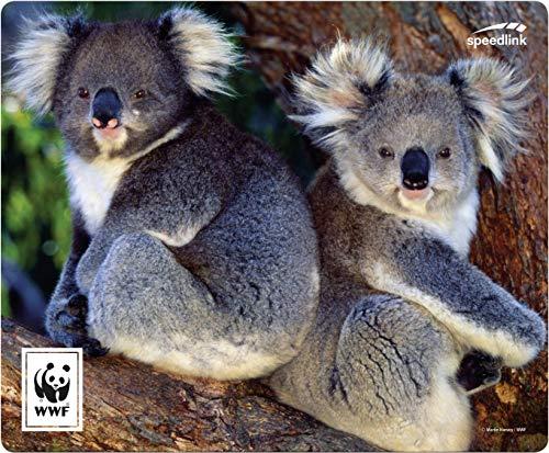 SPEEDLINK Terra WWF Mauspad - weiche Unterlage für alle Mäuse geeignet, Koala