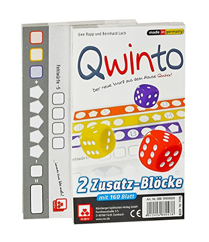 NSV - 4038 - QWINTO - Ersatzblöcke 2er Set - Würfelspiel