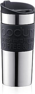 Bodum travel mug termosmug rostfritt stål (dubbelväggig, diskmaskinssäker, 0,35 liter) svart