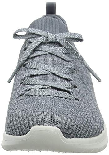 Skechers Ultra Flex 2.0, Zapatillas Mujer, Multicolor (GRY Black Knit Mesh/Trim), 37 EU