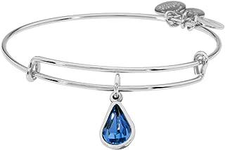 Alex and Ani Rose Crystal September Birthstone Sterling Silver Bracelet A18EB48SS