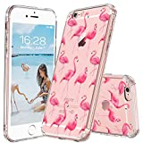 MOSNOVO iPhone 6S Case/iPhone 6 Case, Cute Flamingo Tropical Clear Design Printed Transparent Plastic Hard Back Case with TPU Bumper Protective Case Cover for Apple iPhone 6/iPhone 6S