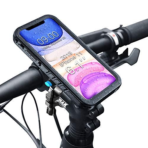 SPORTLINK - Soporte de metal para bicicleta para iPhone 11, resistente al agua, para manillar de motocicleta, a prueba de caídas, resistente al polvo, ajustable, accesorios de ciclismo