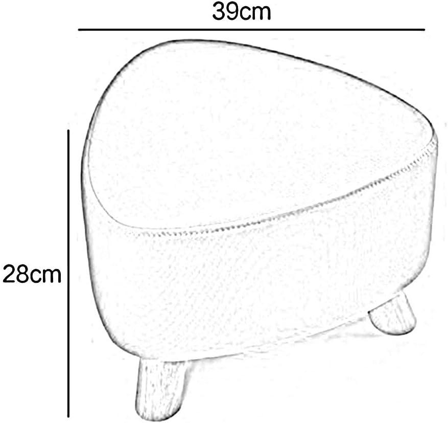 HLL Tabourets, Poufs Mode Solide Couleur Tea Table Tabouret Repose-Pieds Tabouret Tabouret En Bois Banc de Chaussures,Bleu Jaune