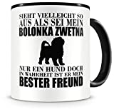 Samunshi® Bolonka Zwetna mein bester Freund Hunde Tasse Kaffeetasse Teetasse Kaffeepott Kaffeebecher Becher