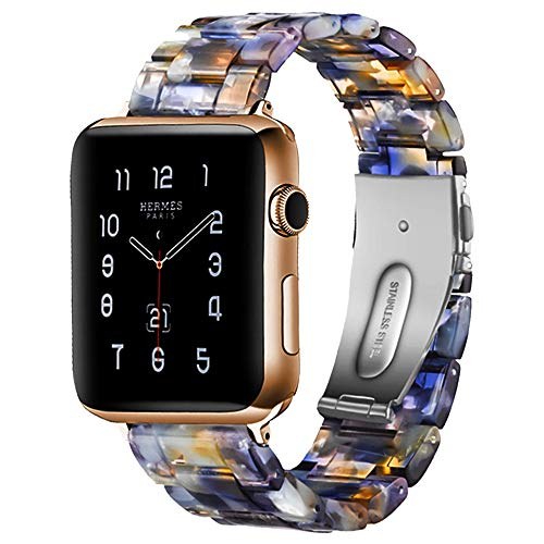 BONSTRAP Compatible Iwatch Bands Resin Watch Band 42mm 44mm with Metal Clasp