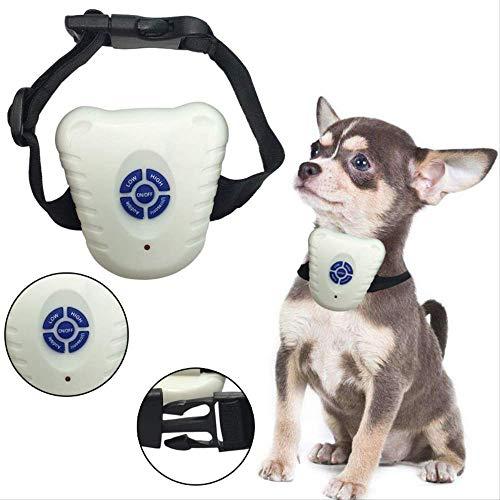 WYJW Dog Collar Small Dog Bark Collar Bark Stop Safe Ultrasonic Dog Deterrents Anti Barking Collar Automatic Voice Activated LED Indicator Adjustable Pet Dog Training