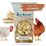 Leimüller Hühnerfutter 5 Kg | Körnerfutter für Hühner GVO - Gentechnik frei | 6-Korn Geflügelfutter mehrfach gereinigt und staubfrei