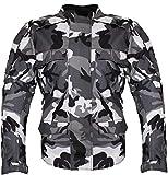 Motorrad Textil Jacke Motorradjacke Racing Wasserdicht Schutzjacke Sommer Camo Camouflage (M)