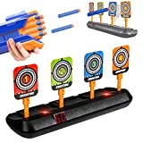 AMOSTING Electronic Shooting Target for Nerf Guns, 4 Scoring Auto Reset, Digital Shooting Targets for Nerf Guns Toys, Ideal Gift Toy for 3-8 + Years Old Kids
