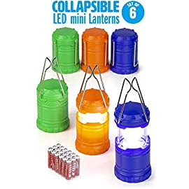 Dawhud Direct Super Bright Mini Collapsible LED Lantern (6 Pack) 1 This pack features Collapsible Super bright Mini LED Lantern The advanced collapsible lightweight LED lantern is easy to carry and store. Perfect for party favors, giveaway at birthday parties, camping, hiking and power outages etc.