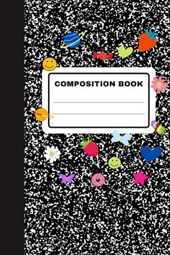 Composition Book: Olivia Rodrigo Sour Album Inspired Black and White School...