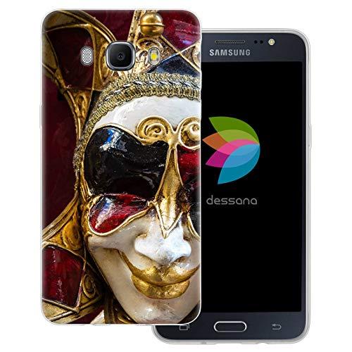 dessana Venetiaanse carnaval transparante beschermhoes mobiele telefoon case cover tas voor Samsung Galaxy A J, Samsung Galaxy J5 (2016), Venetië clown masker
