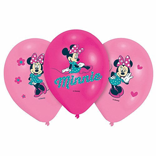 Party Ballons Mouse | 6 Stück | Disney Minnie Maus | Luftballons Geburtstag