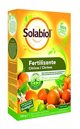Solabiol Fertilizante cítricos con Ingredientes 100% organicos y estimulador radicular Natural Booster, 750g