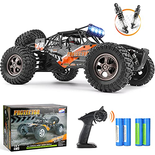 Remote Control Car,1:12 Scale 4×4 RC Cars Protector 38+ kmh High Speed, 2.4 GHz All Terrain Off-Road RC Truck Included 2 Rechargeable Batteries, Ideal Xmas Gifts Remote Control Toy for Boys and Adults