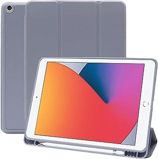 MS factory iPad 10.2 ケース 2020 第8世代 2019 第7世代 アイパッド iPad8 iPad7 カバー Apple Pencil 収納 耐衝撃 スマートカバー ソフト TPU オートスリープ ペンシルホルダー ラベ...