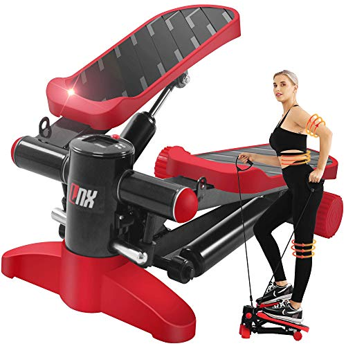 【2020最新の強化版 1年間安心保証】LNX ステッパー 有酸素 運動 フィットネス ダイエット 器具 すてっぱー ひねり運動 踏み台昇降 静音 ステップ台 健康エクササイズ器具 ステップ 運動 足踏み 3D 健康ステッパー (レッド)