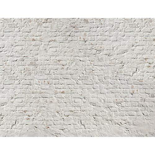 Fototapete Ziegelmauer 3D Beige 396 x 280 cm Vlies Wand Tapete Wohnzimmer Schlafzimmer Büro Flur Dekoration Wandbilder XXL Moderne Wanddeko 100% MADE IN GERMANY Runa Tapeten 9020012a