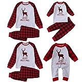 riou Weihnachten Schlafanzug Familie Pyjama Outfits Hirsch Drucken Zweiteilige Hausanzug...