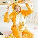 Handaxian Pijamas Damas Adulto Animal Onesies Amantes de los Hombres Pijamas de Invierno Pijamas Conjunto de Pijamas de Franela Canguro M