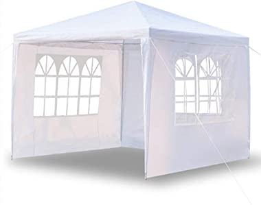Outdoor Gazebo Canopy Wedding Party Tent Camping Shelter Gazebos with Removable Sidewalls Easy Setup for Patio Grill BBQ Pavi