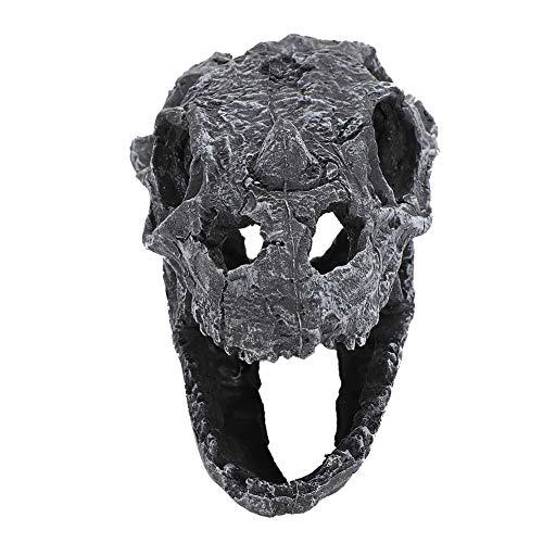 【𝐏𝐫𝐨𝐦𝐨𝐜𝐢ó𝐧 𝐝𝐞 𝐒𝐞𝐦𝐚𝐧𝐚 𝐒𝐚𝐧𝐭𝐚】Paisaje simulación Artificial pecera decoración del cráneo, ceratops Reptil cráneo Dinosaurio, terrario decoración Dinosaurio cráneo para Acuario pecera
