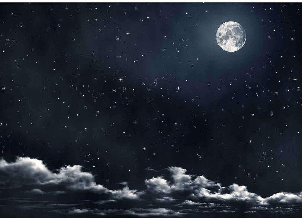 Ferrari & arrighetti cielo notturno con luna, in carta 100 x 70 , accessorio per presepe. B77040