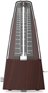 Metronome for Guitar/Piano/Bass/Violin/Drum and Other Musical Instruments, Wood Grained, High Precision/battery free
