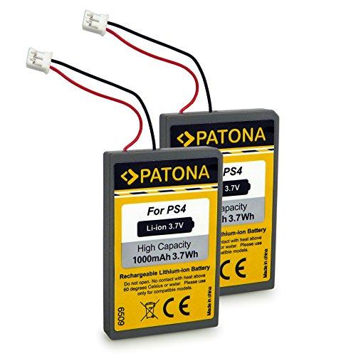 PATONA 2X Bateria reemplaza LIP1522 Compatible con Sony Playstation 4 PS4 Dualshock 4 Mando Control Remote Versión 1
