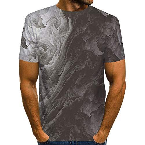 FANGDADAN 3D Printed T-Shirts,Abstrakte Rauch Drucken Männer Short-Sleeve T-Shirt Sommer T-Shirt Top,Stilvolle 3D-Gedruckten Shortsleeve T-Shirt Streetwear Unisex T-Stück Bluse Geschenk,M