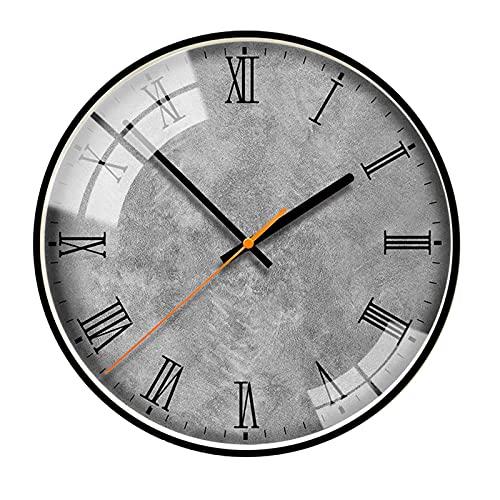 AMYZ Relojes de Pared Modernos,Reloj Decorativo de Cuarzo silencioso Que no Hace tictac,para decoración de Sala de Estar/Dormitorio/Cocina/Oficina,fácil de Leer