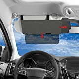 XYAM Polarized Sun Visor Sunshade Extender for Car Anti-Glare Car Sun Visor Protects from Sun Glare, Snow Blindness, UV Rays, Universal for Cars, SUVs