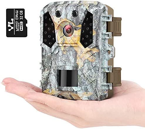 KUFA Trail Camera 16MP 1080P Free 32GB SD Card Hunting Camera w Infrared Sensors 120 No Glow product image