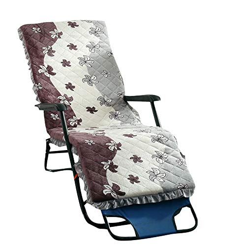ZHBD Cojines de Silla de Patio Silla reclinable sillón reclinable Antideslizante Cojín Correa Ventana Tatami colchón for Interiores y Exteriores Tumbona para Veranda Interior al Aire Libre
