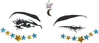 Star Pentagram Face Sticker Acrílico Drill Sticker Eye Diamond Sticker Christmas Music Festival Decoración de la cara
