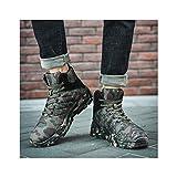 HaoLin Botines Cálidos Zapatillas de Deporte Zapatos de Trabajo Botas Militares,Green-40