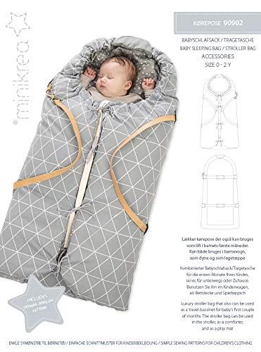 MAGAM-Stoffe Baby Schlafsack Tragetasche Schnittmuster inkl. Aufnäher Enno