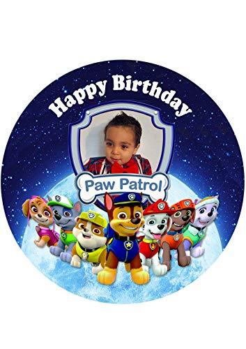 Paw Patrol, Essbares Tortenbild mit Wunschbild, Tortenaufleger Ø 20cm - Super Qualität, 0218W