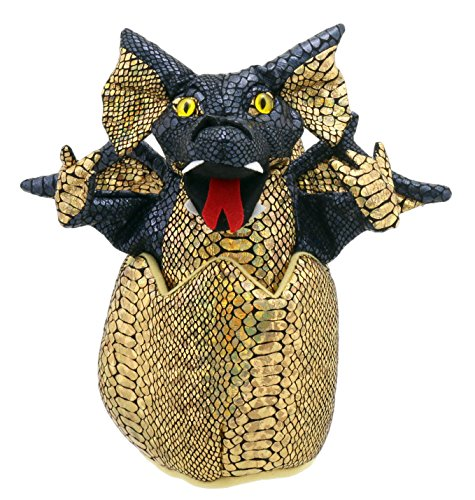 The Puppet Company Bebé Dragones en Huevos Marioneta de Mano, Negro