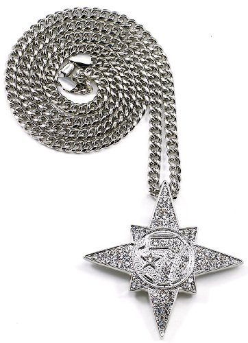 GWOOD 5 Percenter 7 Star Silver Color Pendant with...