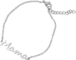 JOFUKIN for Mom Birthday Gifts Mama Necklace & Bracelets Mom Gifts from Daughter and Son Gifts for Mom Stainless Steel Statemet Necklaces for Women Mother Gifts