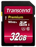 Transcend TS32GSDU1 Class 10 UHS-I Premium SDHC 32GB Speicherkarte (300x) [Amazon frustfreie...