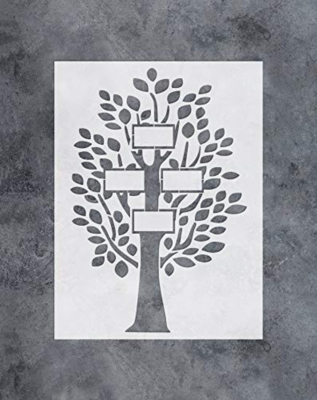 GSS Designs Family Tree Decor Stencil -4 Large Photo Picture Frames Stencil (12x16 Inch) for Painting & Craft - Living Room, Bedroom, Kids Rooms, Mural Decor-(SL-034)