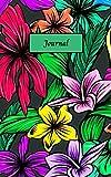Journal: Cahier avec motifs floraux, hibiscus, feuilles, végétation. Carnet de notes, carnet de gratitude, journal de rêves, journal intime, carnet ... Idéal cadeau de noël, cadeau d'anniversaire
