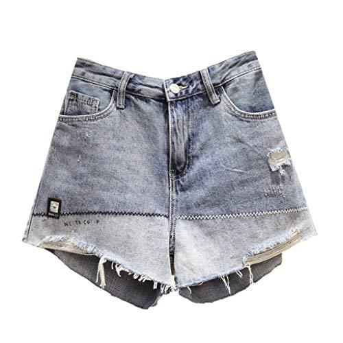 GCX Zomer Plus Size Women's shorts wijde pijpen broek Hot Pants Jeans Sexy (Color : Blue, Size : XXXL)