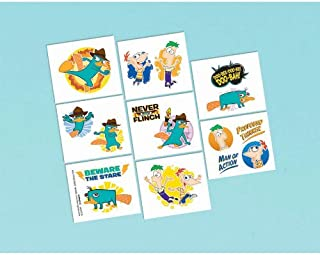 Phineas and Ferb Tattoos (16) Perry Favors Disney Birthday Party Supplies